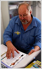 Tom Paul of Tasmanian Rigging Supplies